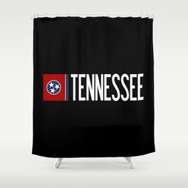 Tennessee: Tennessean Flag Shower Curtain