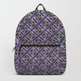 Jeweled Star Violet & Grey Backpack