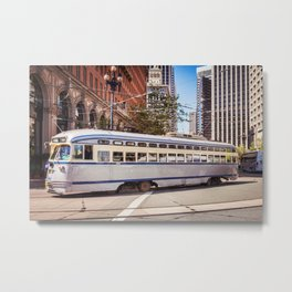 Vintage Streetcar, San Francisco Metal Print