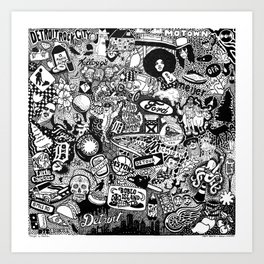 Detroit, Michigan Smorgasboard Art Print