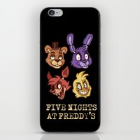 fnaf iPhone & iPod Skins featuring FNAF Five Nights At Freddy's by Kam-Fox