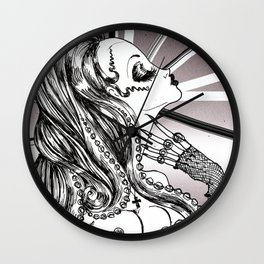 Mademoiselle Octopussy Wall Clock