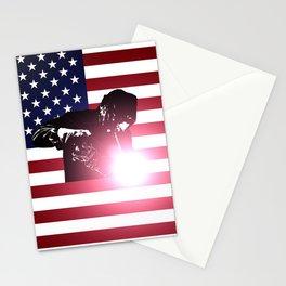 Welding: Welder & American Flag Stationery Cards
