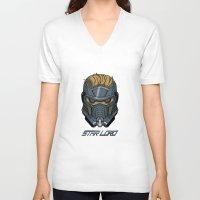 star lord V-neck T-shirts featuring Star Lord by Toraneko