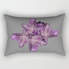 LIGHT PURPLE AMETHYST GEMSTONE CRYSTALS GREY ART Rectangular Pillow