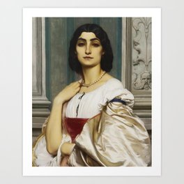 Fredric Leighton, Portrait of a Roman Lady,1859 Art Print