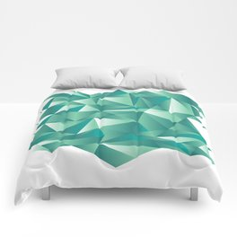 geometric pattern green art Comforters