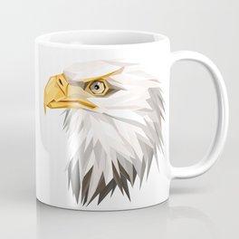 Triangular Geometric American Bald Eagle Head Coffee Mug