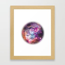 Space Snoopy Framed Art Print