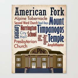 Travel - American Fork Canvas Print