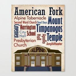 Travel - American Fork Canvas Print