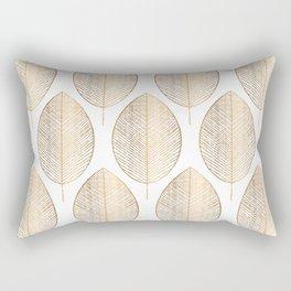 Gold Leaves Rectangular Pillow