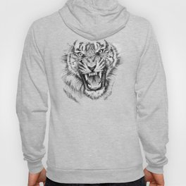 Tiger Portrait Animal Design Hoody