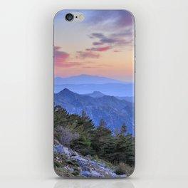 Alayos mountains at sunset iPhone Skin