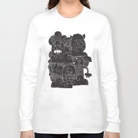 monsters inc Long Sleeve T-shirts featuring MONSTERS by Matthew Taylor Wilson