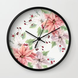 Poinsettia 2 Wall Clock
