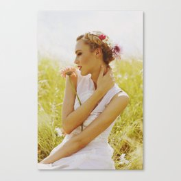 CROWN OF FLOWERS Canvas Print