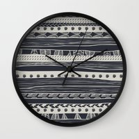 aztec Wall Clocks featuring aztec by spinL