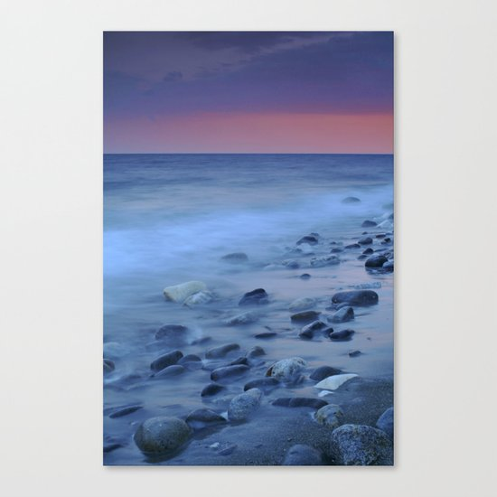 Blue stones at the sea Canvas Print