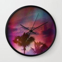 Feeling Purple Wall Clock