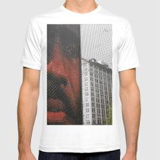 Chicago Mens Fitted Tee LARGE White