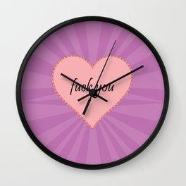 EFF YOU Wall Clock