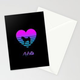 Akita Love Cyberpunk Vaporwave Dog Puppy Gift Stationery Cards