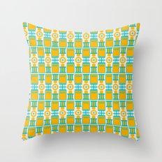 Summer geometry Throw Pillow