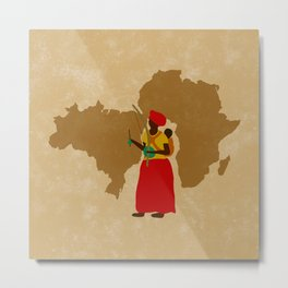 capoeira mãe africa Metal Print