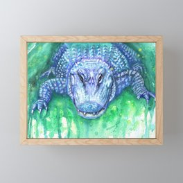 Summer Gator Framed Mini Art Print