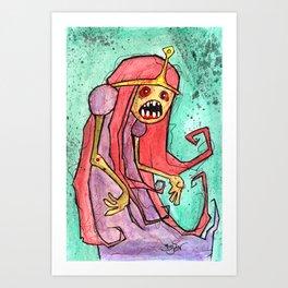 Princess BrainsareYum Art Print