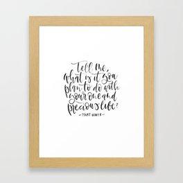 Tell Me ... Framed Art Print