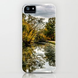 Autumn on the Canal iPhone Case