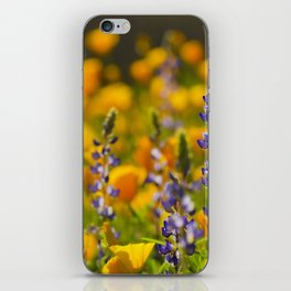 Purple Lupine and Golden Poppies iPhone Skin