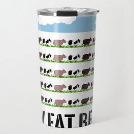 60 Fat Beeves - Cow Cartoon by WIPjenni Travel Mug