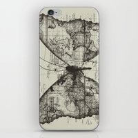 backpack iPhone & iPod Skins featuring Butterfly Effect by Tobe Fonseca