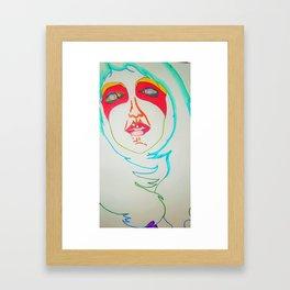 Selfie of a ghost girl Framed Art Print