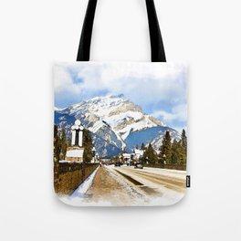Cascade Mountain - Banff  Alberta Canada Tote Bag