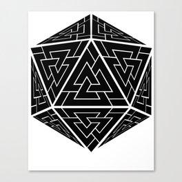 d20 Viking Valknut Odin Canvas Print