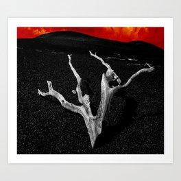 Lava Drift Wood Art Print