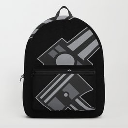 Two Pistons Car Engineering Gift Backpack