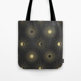 Moon and Sun Theme Tote Bag