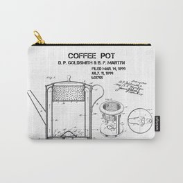 Coffee pot Goldsmith Martyn patent art 1899 Carry-All Pouch