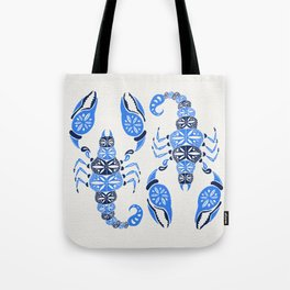 Blue Scorpion Tote Bag