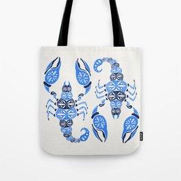 Blue Scorpion Tote Bag