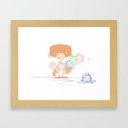 Whistle and Splat Framed Art Print