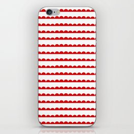 Red Scallop iPhone Skin