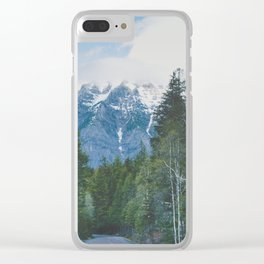 Glacier Roads Clear iPhone Case