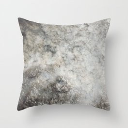 Pockets of Salt on the Rocks by the Sea Throw Pillow