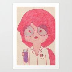 Sciency Bubblegum! Art Print